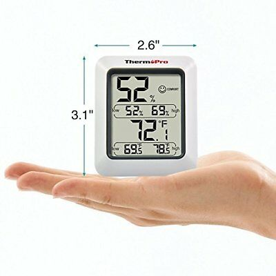 Digital Thermometer Hygrometer Large Monitor Temperature and Humidity