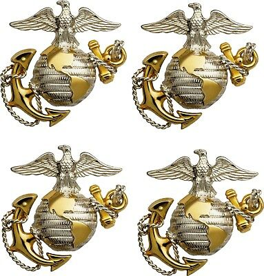 "4 Pack USMC United States Marine Corps US Die Cut EGA Patriotic Military 5""X5"""