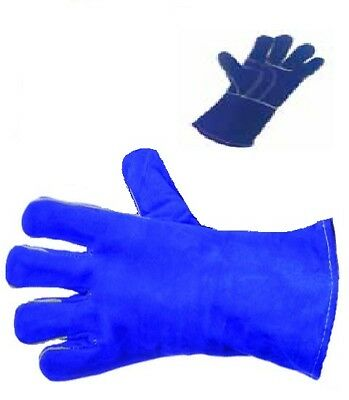 2 PREMIUM LEFT HAND WELDING LEATHER GLOVES WITH REINFORCED THUMB  - Large