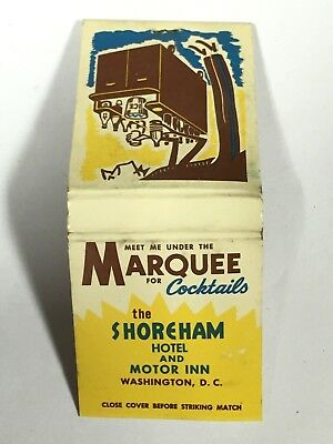 Vintage SHOREHAM HOTEL & MOTOR INN Matchbook - Washington, DC
