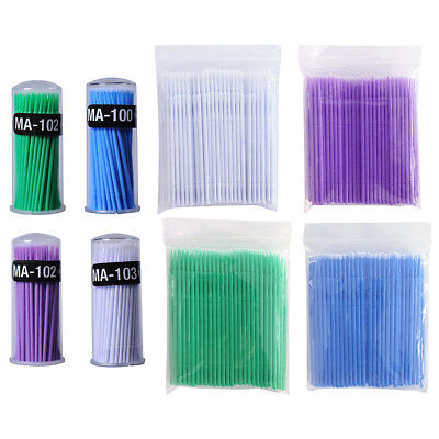 100pcs Swab Micro Brush Disposable Microbrush Applicators Eyelash Extensions