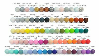 12mm Round Silicone Twin Pack- NEW COLORS ADDED