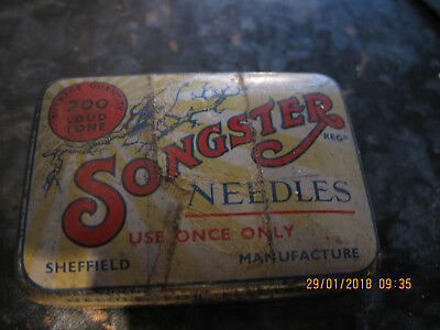 Songster Needles Tin Full With Contents Vintage