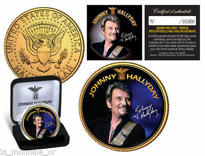 Medaille Collector Dollar Johnny Hallyday En Promo