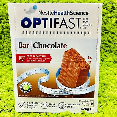 OPTIFAST VLCD Bar Chocolate 70G x 6 Pack (Best Before : 08 / 2018)