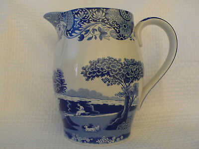 Spode Blue Italian Jug 17Cm High Made In England