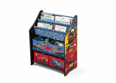 Disney Cars Kids Wooden Multi Tray Book & Toy Box Storage Organiser (2018 Model)