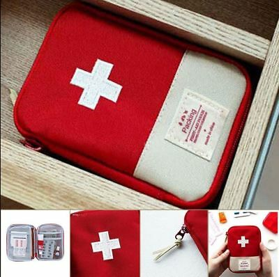 Portable Emergency Survival First Aid Kit Pack Travel Medical Sports Bag Case Po