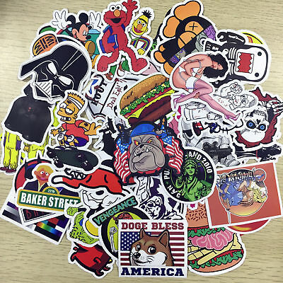 1000X Random Vinyl Decal Graffiti Sticker Bomb Laptop Waterproof Stickers Skate