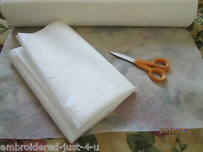 SOLVY FABRIC SOLUBLE STABILISER  50 cm wide , various lengths , post free