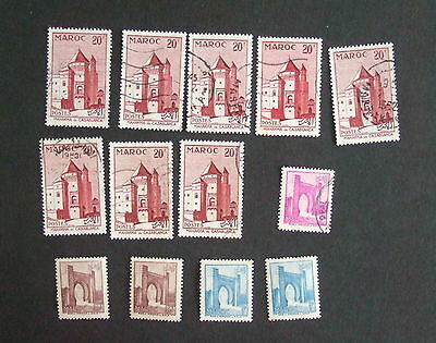 French Morocco 1955 selection used & MM - see photo