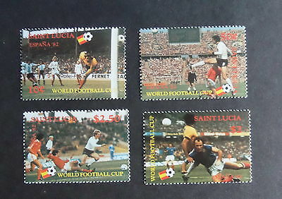 St Lucia 1982 World Cup Football Championships SG611/4 MNH UM unmounted mint