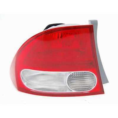 One New Left Side Tail Light Assembly fits 2009-2011 Honda Civic