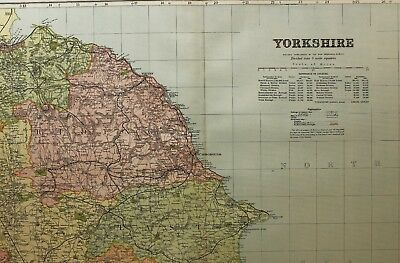 1898 Original County Map Yorkshire North East Scarborough Whitby New Malton