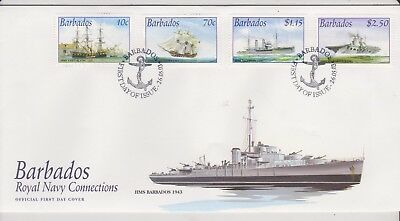 Naval FDC  - Barbados - Royal Navy Connections - 2003 - (1703) (X)