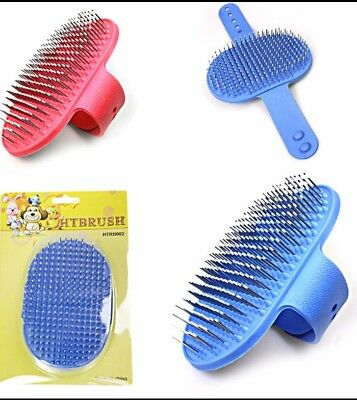 Adjustable Grooming Glove Long/Short Hair Removal Mitts Gentle Brush Cat/Dog