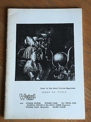 Index to the Weird Fiction Magazines - Index by Title - Cockcroft 1962