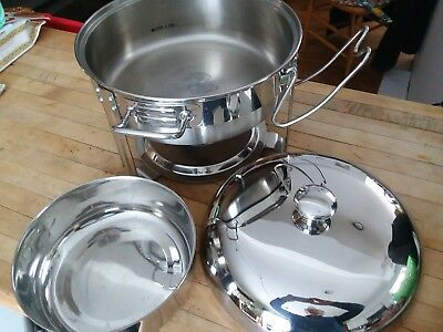 Seville Classics 4 qt Commercial CHAFING DISH SET stainless steel mod. 14009 EUC