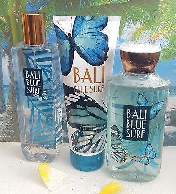 bath and body works bali blue surf shower gel body cream fine fragrance mist