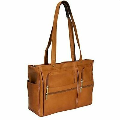 David King & Co. Women's Multipocket Laptop Briefcase 147 Tan New With Tags