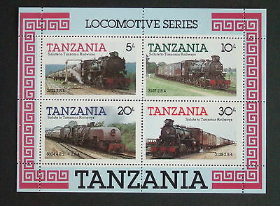 Tanzania 1985 Tanzanian Railway Steam Locomotives MS434 MNH UM trains x