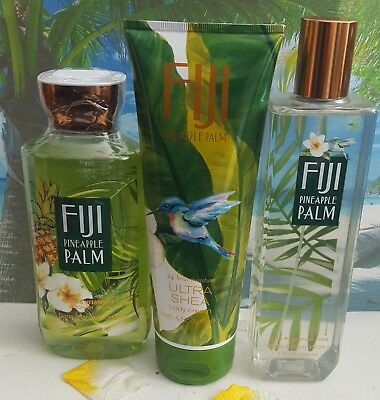 bath and body works fiji pineapple palm shower gel body cream fine fragrance