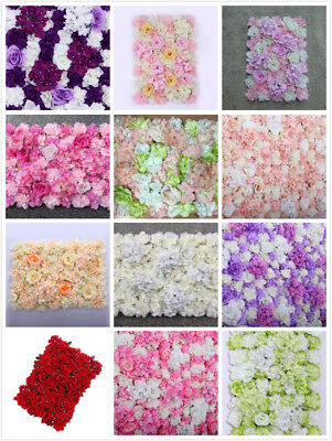Artificial Flower Wall Panels  Rose Hydrangea Wedding Venue Background Decor