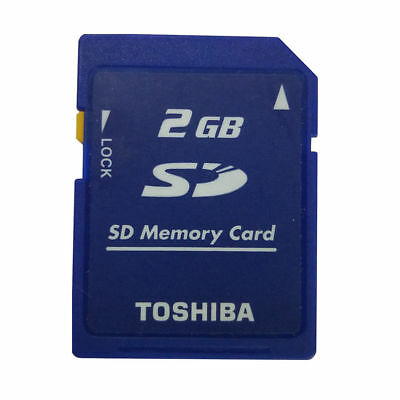 2GB Toshiba SD 2GB Secure Digital Memory Card SD-M02G Blue Standard And Genuine