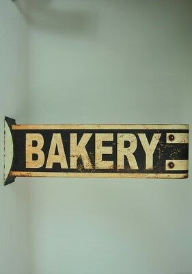 Kitchen Sign Extra Large Rustic Vintage style BAKERY Sign Cream Black Distressed