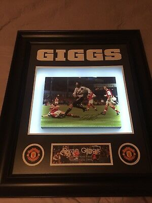 Manchester United Ryan giggs wonder goal limited edition picture lights wales