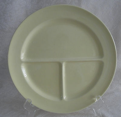 """LuRay TS&T - Compartment Divided Grill Plate 10"""" - Persian Cream Yellow PERFECT"""
