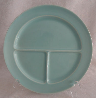 """LuRay TS&T - Compartment Divided Grill Plate 10"""" - Surf Green  PERFECT"""