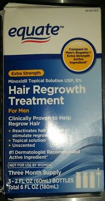 Equate Hair Regrowth Treatment For Men 3 Month Supply BOX DAMAGE (2B)