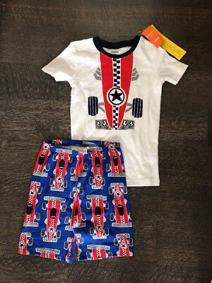 NWT Gymboree Boy Gymmies Race Car Shortie Pajama Set PJ 18-24 mo 10