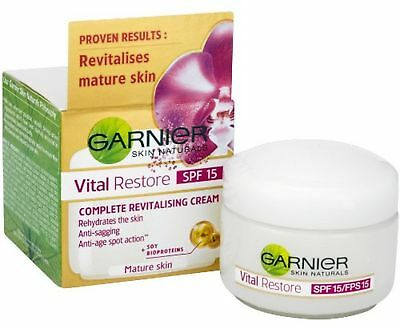 Garnier Vital Restore SPF15 Day Cream 50ml *SAME DAY DESPATCH*
