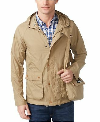 Barbour Men's Croston Packable Waterproof Hooded Jacket (Military Brown, XXL)