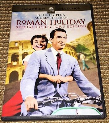Roman Holiday (DVD, 2002, Collector's Edition) Audrey Hepburn, Gregory Peck 1953