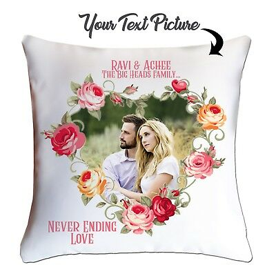 Personalised Valentines Day Photo Cushion  custom Cover your picture- Couples 💕