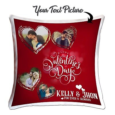 Personalised Valentines Day template Your  Photo Cushion Cover Couples Pictures❤