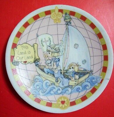 Precious Moments Christopher Columbus -THIS IS OUR LAND Plate ~ 500th Anniv 1992
