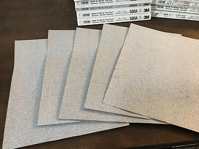"10 Sheets 3M Sand Paper 405N Tri-M-ite Fre-Cut 9""x11"" 500 A-Weight (grit) 10240"