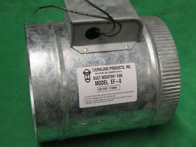 "Ef-8 Duct Booster Fan Blower Galvanized 8"" Round Duct Pipe Hvac 120V 1.1 Amp"