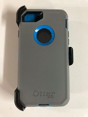 Otterbox Defender Series Case for Iphone 7 & iPhone 8 4.7 with Holster Gray Blue