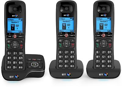 BT Bt6600 Trio Blk/Silver Dect Phone Answer Machin