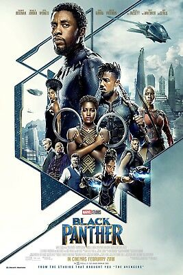 Black Panther 27x40 DS Movie Poster COMPLETE CAST SIGNED x13! Chadwick Michael