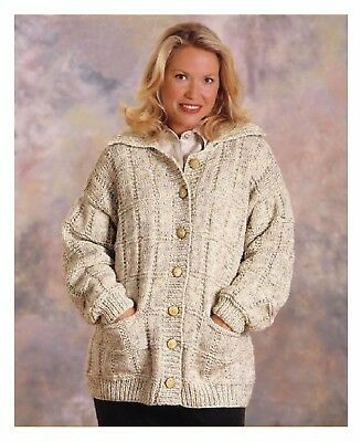 Ladies Box Stitch Jacket, Cardigan, KNITTING PATTERN - PDF 459