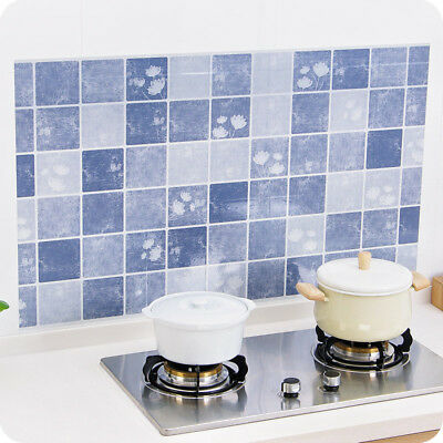 3D DIY Family Kitchen Removable Vinyl Anti-oil Wall Sticker Mural Tile Decal HE7