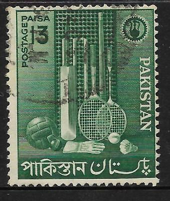 PAKISTAN 1962 INDUSTRIES SPORTS GOODS Cricket Squash Badminton 1v USED (No 2)