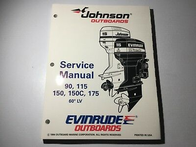 1995 Johnson Evinrude Outboards EO 90, 115, 150 175 HP Service Manual 60° Loop V