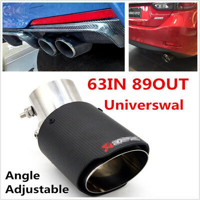 Stainless Steel Angle Adjustable 63-89mm Autos Exhaust Pipe Tail Muffler End Tip